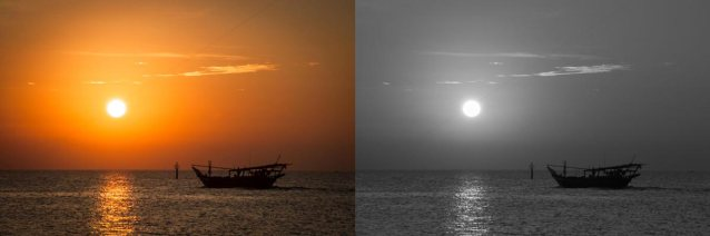 The vibrant and gradation colour of orange looks dull in B+W... or is it supposed to be dull??