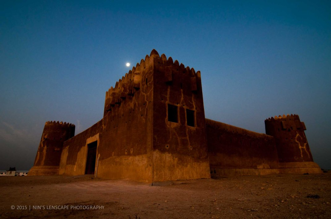 Fort Zubara, early in the morning, under the moon light
